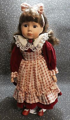 """The Sisters Collection Porcelain Girl Doll Name Natalia 16"""""""