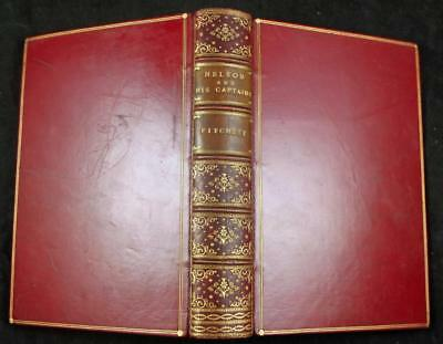1902 NELSON AND HIS CAPTAINS PRIZE BINDING Fine NAVY War NAVIGATION