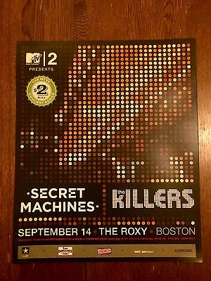 THE KILLERS / Secret Machines concert poster Boston Roxy 2004 MTV2