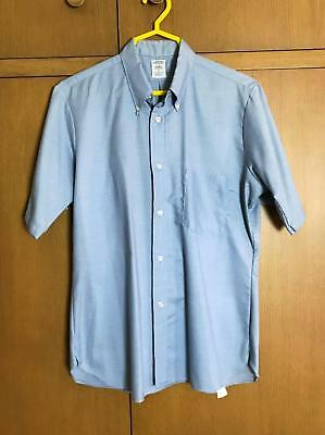 VTG 60s Arrow Cum Laude Oxford Shirt Blue Tapered 15 Decton Sanforized Made USA