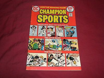 Champion Sports #1 dc 1973 bronze age 7.5/vf- comic!!!!!