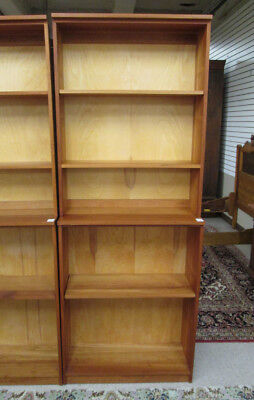 CUSTOM CRAFTED TWO-SECTION CHERRY BOOKCASE, The Jo Lot 78