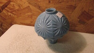 Antique Hawkeye Blue Milk Glass Lightning Rod Ball No. 3