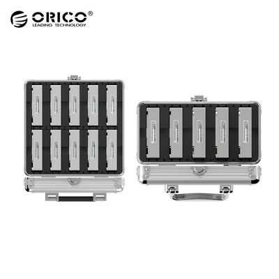 "ORICO Aluminum 3.5"" HDD Hard Disk Drive Protection Box Storage Case with Locking"