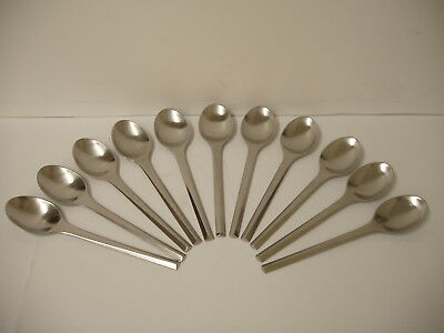 set of 11 solid Teaspoons Prism Stainless by GEORG JENSEN DENMARK