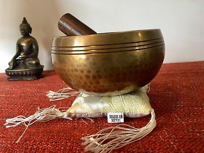 Singing Bowl Hand Moulded Hand Beaten In Nepal