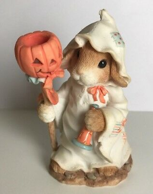 1998 Enesco My Blushing Bunnies You Cast A Spell on Me Halloween Ghost 393207