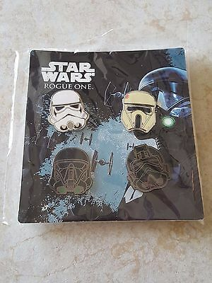 Pin Trading Disney Pins Lot of 4 Star Wars Stormtrooper Helmet Set Rogue One New