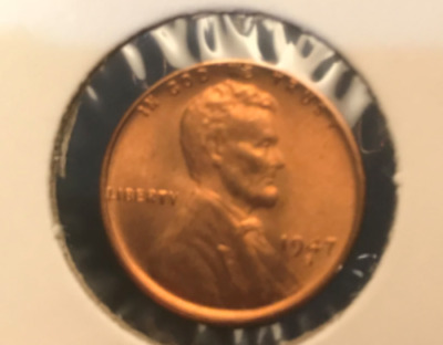 1947 S Lincoln Wheat Cent Nice MS/BU RED Lincoln Coin
