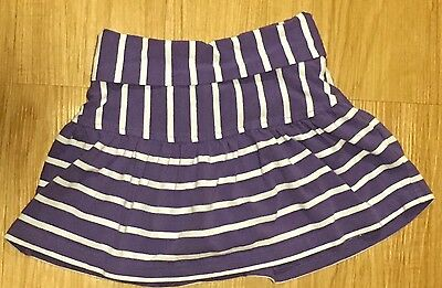 Hanna Andersson Size 90 Purple White Scooter Skirt Skort Shorts