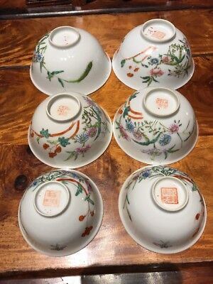 Chinese antique porcelain A Set Bowl Qing Ming China Asian