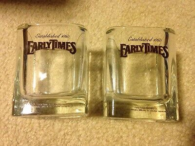 Early Times Kentucky Whisky Two Glasses