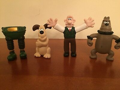 Wallace & Gromit figures-Nick Park-Aardman-Lot from Close Shave & Wrong Trousers