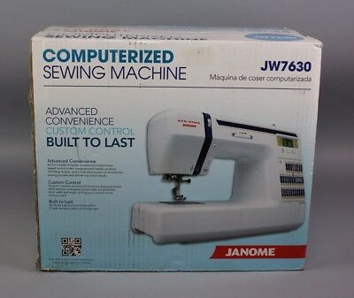 New Janome JW7630 Sewing Quilting Machine 30-Stitch White