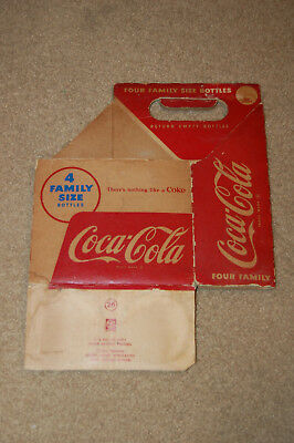 Coca Cola Family Size Bottle Cardboard Carrier