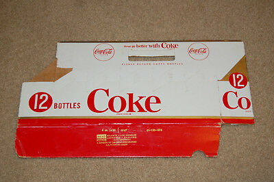 Coca Cola Twelve 12 Pack Carrier Red, Gold, and White