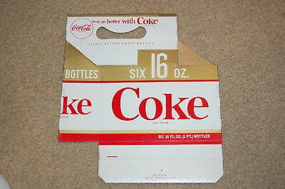 Coca Cola 16 oz six pack, 6 Pack Carrier Red, Gold, and White