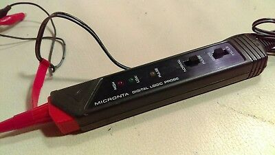 Micronta Digital Logic Probe 15v DC MAX USED & WORKING 22-303 Circuit Tester