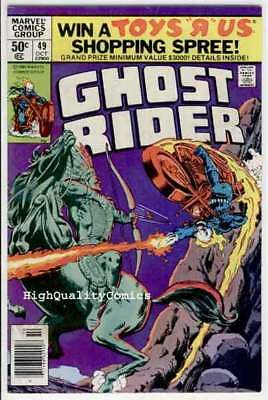 GHOST RIDER #49, FN+, Motocycle, Manitou , Movie,1973,  End of a Champion