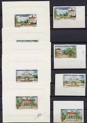 Camerun PROOF N° 425/428 reunification edifices NON DENTELE *  (imperforate)