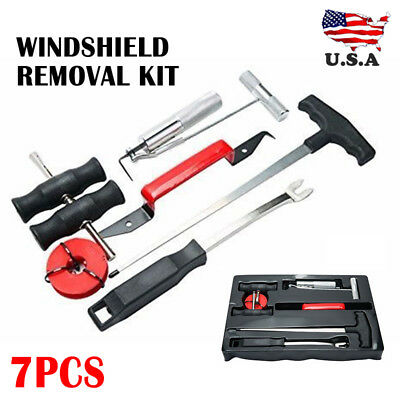 7pc Wind Glass Automotive Remover Car Windshield Windscreen Removal Tool Kits US