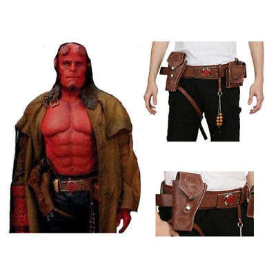 XCOSER Hellboy Belt with Holster PU Leather Halloween Cosplay Costume Accessory