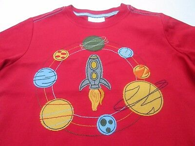 ❤ HANNA ANDERSSON boys rocket shirt 110 120 130 140 appliqué planet NWT FREESHIP