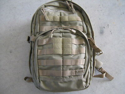 5.11 Tactical Rush 12 backpack sandstone. Exellent condition. 511 5 11