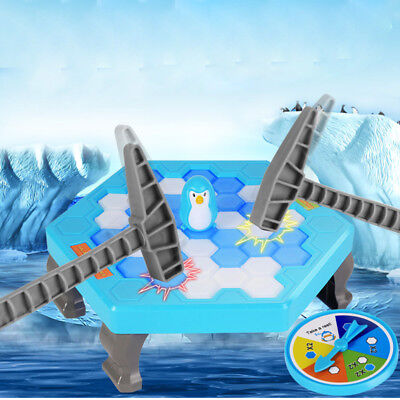 Small Penguin Trap Ice Breaker Game Rescue Penguin interactive Toy kids Gift CA