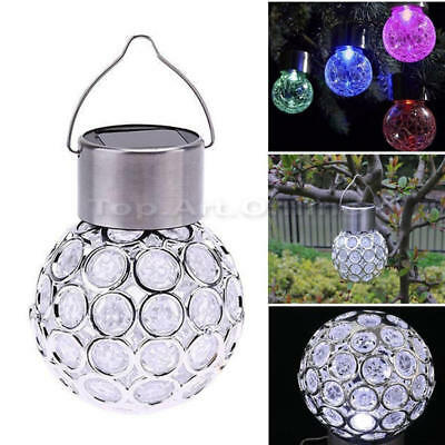 Solar Power Ball Hanging Garden Outdoor Landscape 7 Color Change LED Lamps 1 Pc