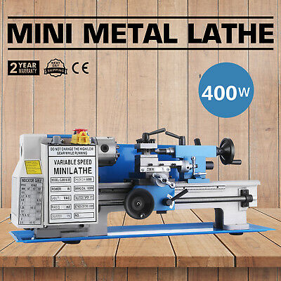 "7""x12"" Mini Metal Lathe Metalworking Woodworking Wood-turning Drilling Automatic"