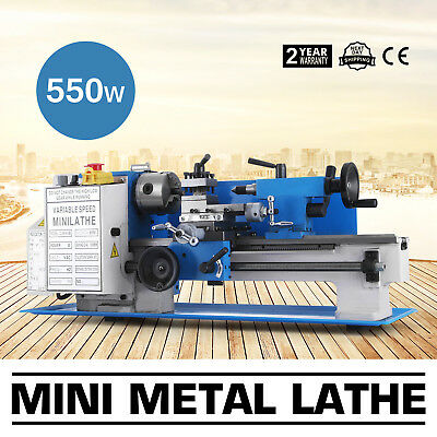 "7""x12"" Mini Metal Lathe Metalworking Woodworking DIY Processing 110V Automatic"
