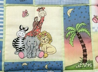 "Handmade""BAZOOPLES"" 35x44in boys baby/toddler quilted blanket/comforter giftidea"