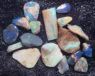 Australian Rough Opal Parcel, mix Andomooka & Lightning Ridge 47ct (AOW 2014ni)