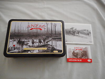 """Anzac Limited Edition 2017 Biscuit Tin '' Western Front, Belgium 1917 """""""
