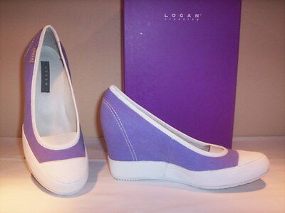 Shoes court Logan woman casual high wedge canvas violet 39