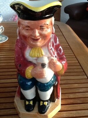 Vintage Burlington Ware Very Large Character Toby Jug 'Boozer' Perfect Condition