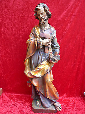 Beautiful, Antique, Large Wooden Figure ( W. Josef )__ 101cm __ South Tyrol __