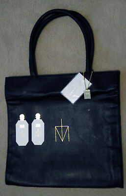Madonna Truth Or Dare unused faux leather tote bag with label and card testers