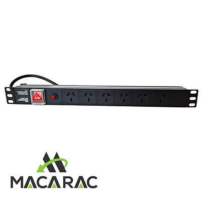 "1U 6 WAY POWER DISTRIBUTION UNIT (PDU) 19"" Inch Rack-Mount Application"