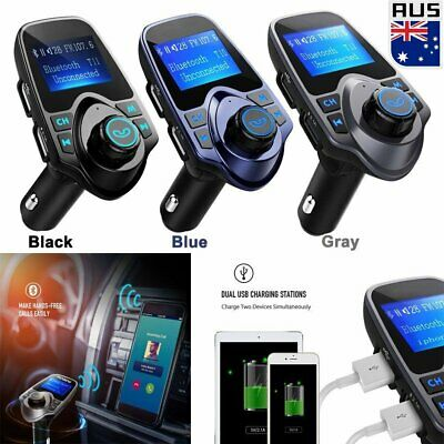 Bluetooth Wireless AUX Stereo Audio Receiver FM Transmitter Radio Adapter USB AU