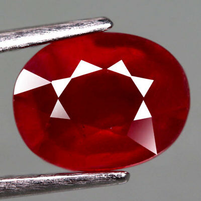 2.40Ct.fabulous! Oval Facet Top Blood Red Natural Ruby Madagascar
