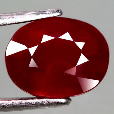 3.11Ct.captivating! Oval Facet Top Blood Red Natural Ruby Madagascar