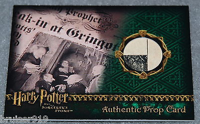 Harry Potter SORCERER'S STONE Prop Card Material 317/733 DAILY PROPHET Artbox
