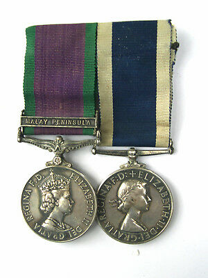 Royal Navy Air Service Medals -  Csm Malay Peninsula + Naval Long Service Medal