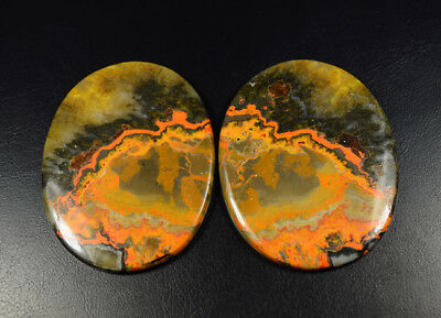 Match Pair 224.60 Cts. 100% Natural Indonesian Bumble Bee Gemstone Oval Cabochon