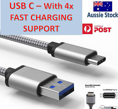 USB-C USB 3.1 Type C Data Charge Fast Charging Cable Samsung Galaxy S8 S10 Note8