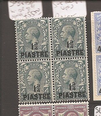 British Levant SG 38,38a in block of 4 MNH (6dbl)