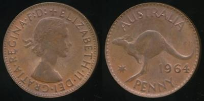 Australia, 1964(p) One Penny, 1d, Elizabeth II - almost Uncirculated