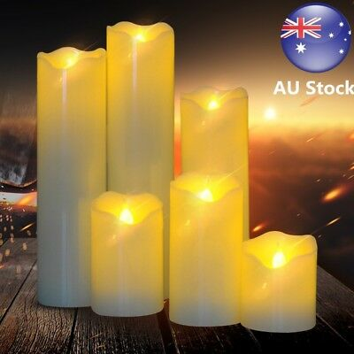 AU 6PCS LED Flameless Flickering Tea Light Tealight Candle Lamp Battery Included